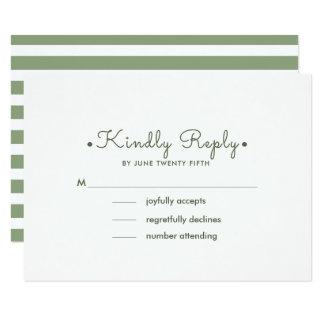 Listras do branco do verde   que Wedding cartões