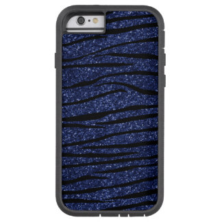 Listras do brilho da zebra dos azuis marinhos capa iPhone 6 tough xtreme
