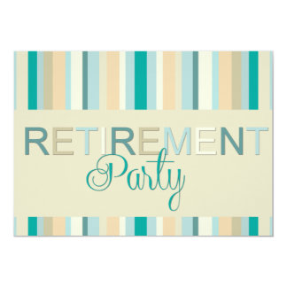 Listras do convite de festas da aposentadoria