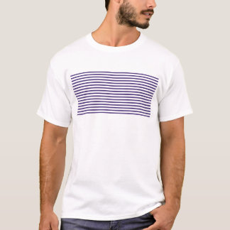 Listras do marinheiro - azuis marinhos e branco camiseta