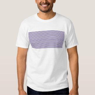 Listras do marinheiro - azuis marinhos e branco t-shirt