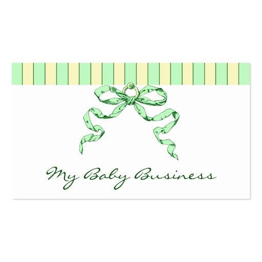 Listras do negócio do bebê e cartões de visitas do