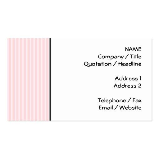 Listras dos doces do rosa Pastel Cartão De Visita