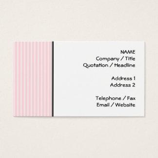 Listras dos doces do rosa Pastel Cartão De Visitas