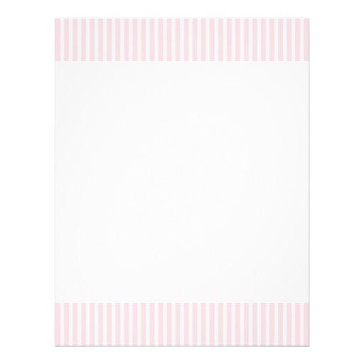 Listras dos doces do rosa Pastel Panfleto Personalizado