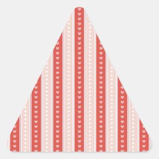 Listras e corações adesivo triangular