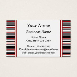 Listras em preto e no vermelho cartão de visitas