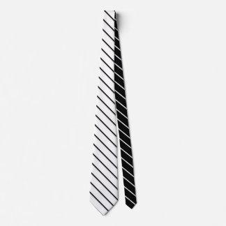 Listras estreitas - branco preto + suas ideias gravata