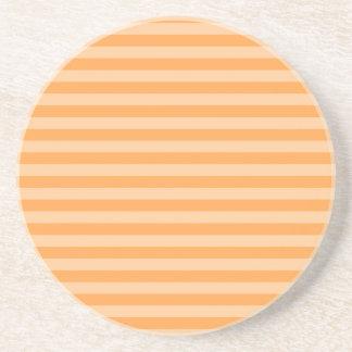Listras finas - alaranjadas e claras - laranja porta-copos de arenito