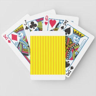 Listras finas - amarelas e amarelo escuro baralho para pôquer