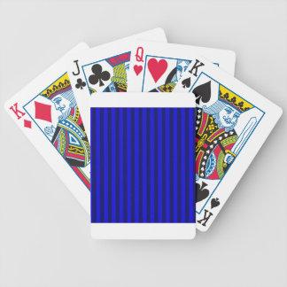 Listras finas - azuis e azuis escuro baralho de truco