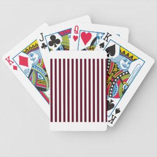 Listras finas - brancas e escarlate escuro baralhos de pôquer