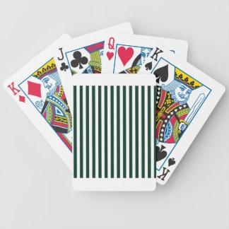 Listras finas - brancas e verdes escuro cartas de baralhos