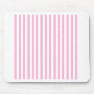 Listras finas - branco e algodão doce mousepad