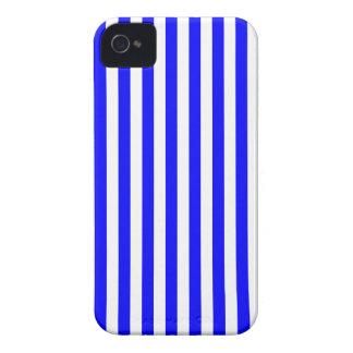 Listras finas - branco e azul capas para iPhone 4 Case-Mate