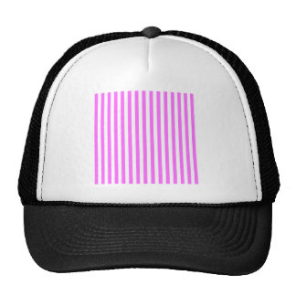 Listras finas - branco e ultra rosa boné