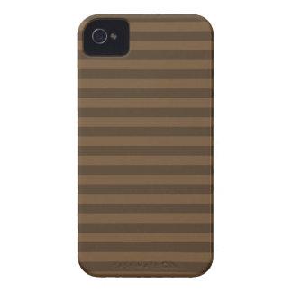 Listras finas - Brown e Brown escuro Capas Para iPhone 4 Case-Mate