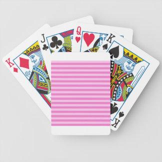 Listras finas - cor-de-rosa e rosa escuro baralhos para poker