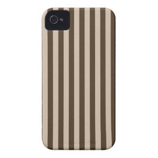 Listras finas - luz - marrons e Brown escuro Capa Para iPhone