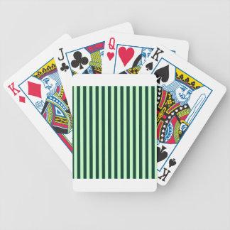 Listras finas - luz - verdes e verdes escuro jogo de baralho
