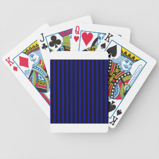 Listras finas - pretas e azuis escuro baralhos de pôquer
