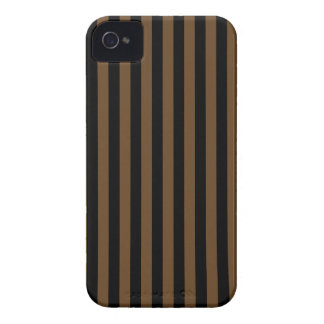 Listras finas - pretas e Brown escuro Capa Para iPhone 4 Case-Mate