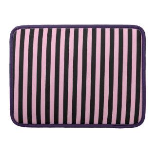 Listras finas - preto e algodão doce bolsa MacBook pro