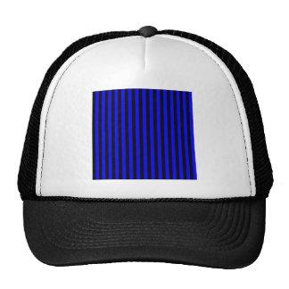 Listras finas - preto e azul boné
