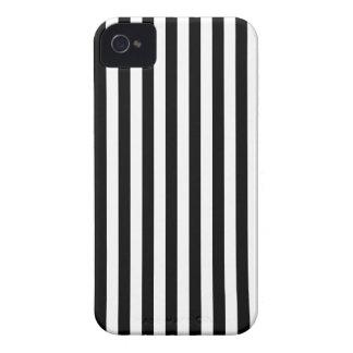 Listras finas - preto e branco capa para iPhone