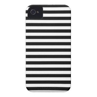 Listras finas - preto e branco capa para iPhone 4 Case-Mate