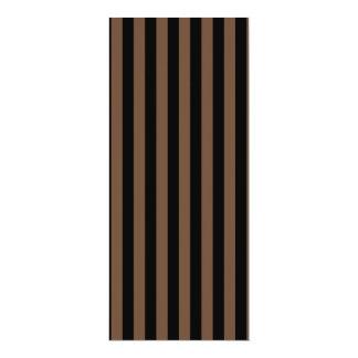Listras finas - preto e café convite 10.16 x 23.49cm