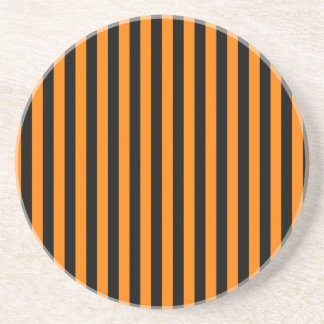Listras finas - preto e laranja porta-copos de arenito