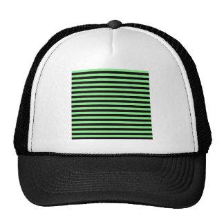 Listras finas - preto e luz - verde boné