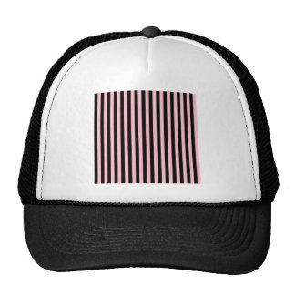 Listras finas - preto e rosa boné