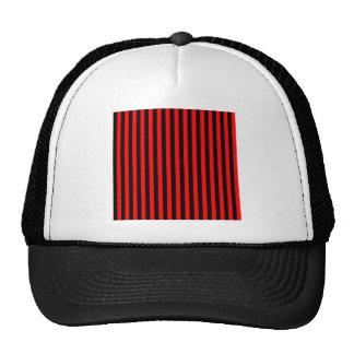 Listras finas - preto e vermelho boné
