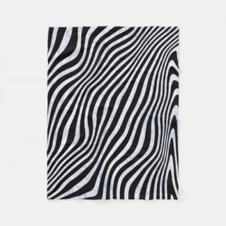 Listras gelados da zebra cobertor de lã