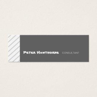 Listras geométricas mínimas inclinadas cartão de visitas mini