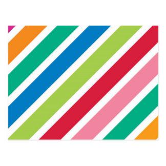 Listras grossas dos doces cartão postal