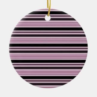 Listras horizontais 4 - rosa & preto enfeite