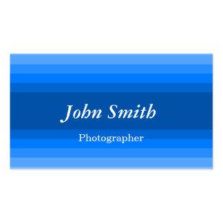 Listras horizontais (azuis) cartões de visitas