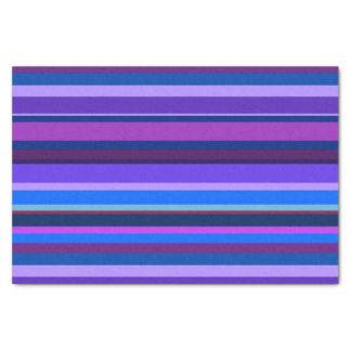 Listras horizontais azuis e roxas papel de seda