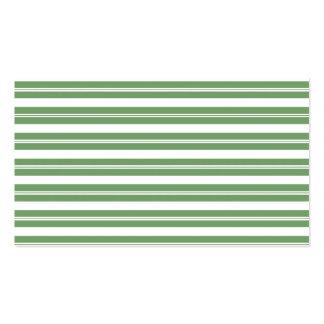 Listras horizontais brancas verdes cartão de visita