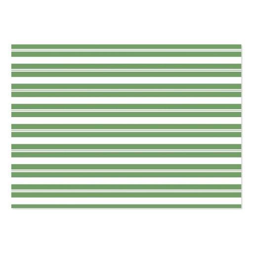 Listras horizontais brancas verdes cartoes de visita