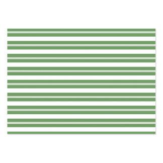 Listras horizontais brancas verdes cartão de visita grande