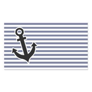 Listras horizontais cinzentas legal; Âncora Cartão De Visita