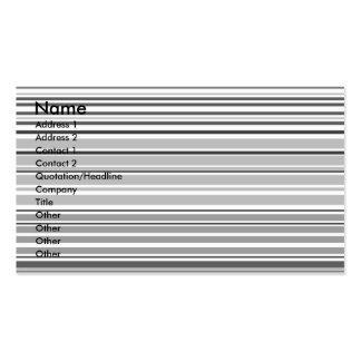 Listras horizontais cinzentas modernas cartão de visita
