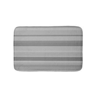 Listras horizontais cinzentas tapete de banheiro