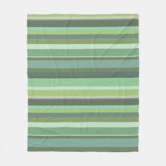 Listras horizontais da verde azeitona cobertor de lã
