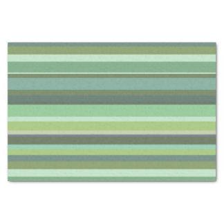 Listras horizontais da verde azeitona papel de seda