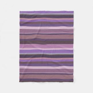 Listras horizontais malva cobertor de lã